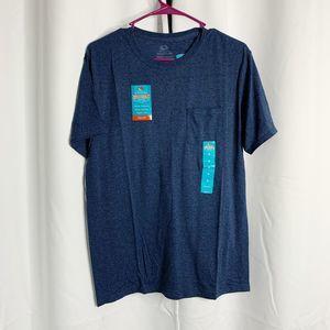 New fruit of the loom M blue pocket t shirt